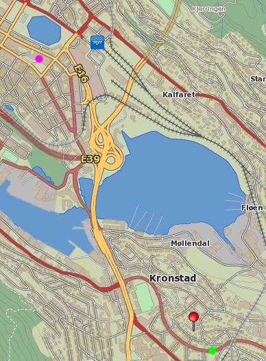 Kart Kronstad - Sentrum