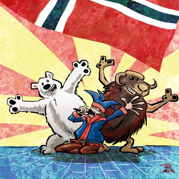 Same, isbjørn og moskus på MGP